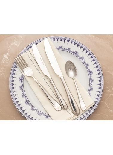 Madame Coco Crown Yemek Bıçağı 6`li Set Gümüş